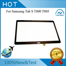 Original Brown For Samsung Galaxy Tab S 10.5 SM-T800 T805S T805K T805L Glass Touch Screen Digitizer Replacement