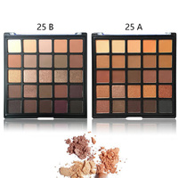 UOCBBY Brand Earth Metallic Shimmer Matte Natural Make Up Smoky Warm Eye Shadow 25 Colors Nude