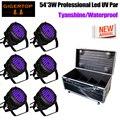Gigertop 4in 1/6in1 Flug Fall Pack 54x3W Profi UV Farbe Led Par Licht IP65 Außerhalb mit 25 Grad Objektiv Daisy Kette Con-in Bühnen-Lichteffekt aus Licht & Beleuchtung bei
