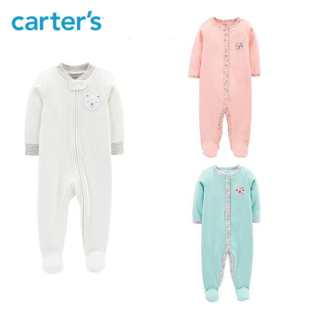 6793395d2e7f Carters Cotton Sleep   Play Cute soft cotton footies baby boy ...