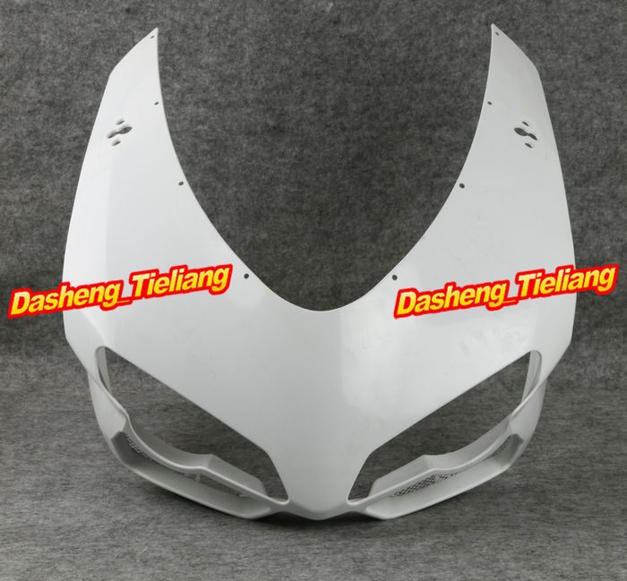 For Ducati 848 1098 1198 2007 2008 2009 2010 2011 Motorcycle Upper Front Cowl Nose Fairing Bodykit Unpainted car rear trunk security shield cargo cover for jeep compass 2007 2008 2009 2010 2011 high qualit auto accessories