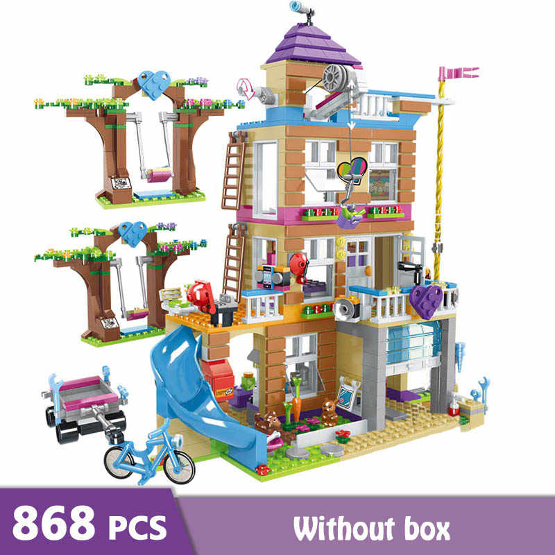 New 868pcs Building Blocks Fun Girls Friendship House Stacking Bricks Girls Friends Figures Toys for Children Birthday Gift