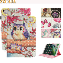 ZZCAJA Funda For iPad Pro 10.5 inch Case Cute Animal OWL Flower 3D View Tablet P