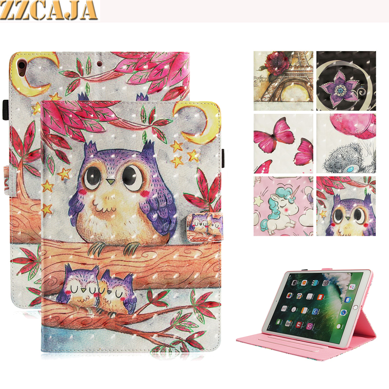 ZZCAJA Funda For iPad Pro 10.5 inch Case Cute Animal OWL Flo