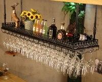 Винный шкаф держатель Стекло держатель фужеров шкафа стены хранения Организатор кованого железа Кухня бар и винные Инструменты