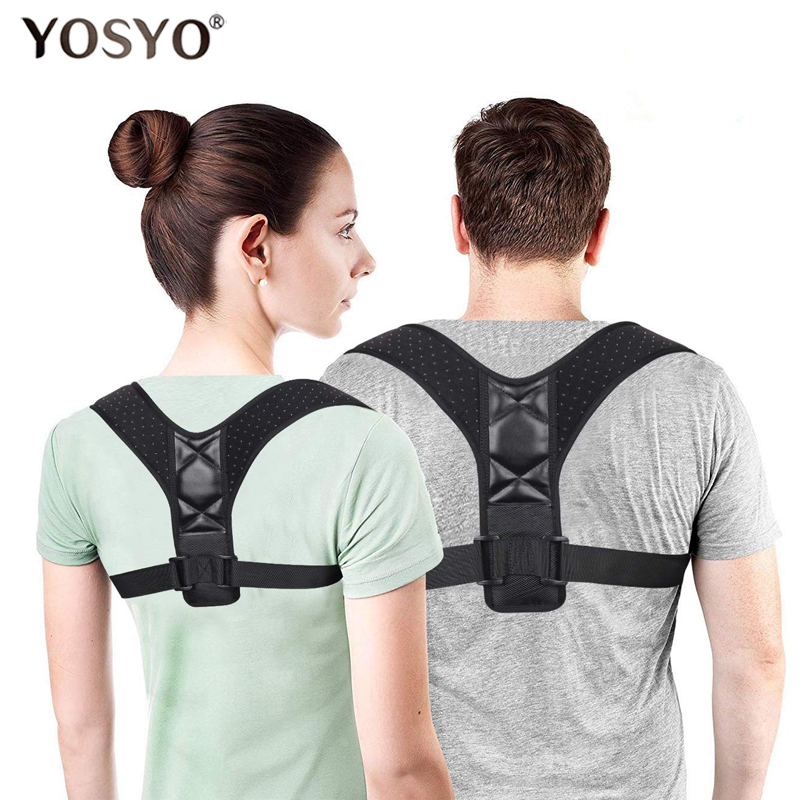 Back Posture Corrector Belt Women Men Prevent Slouching Relieve Pain Posture Straps Clavicle Support Brace Drop Shipping(China)