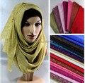 2015 новый оптовый 6 цветов бесконечность блеск мусульманский хиджаб шарф, шаль