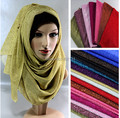 2015 novos atacado 6 cores infinito brilho hijab muçulmano cachecol xale