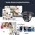 Sannce sistema 8ch cctv 2.0mp 1080 p ahd dvr 4 pcs visão nocturna ao ar livre kits de câmera de segurança à prova de intempéries de vigilância por vídeo