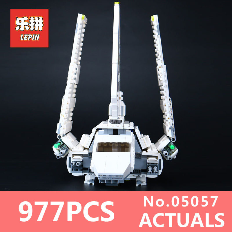 937Pcs Lepin 05057 Star SelfLocking Shuttle Tydirium Wars Building Blocks Bricks Assembled for Children Toys LegoINGlys 75094 lepin 05057 937pcs star moc series war imperial shuttle tydirium building blocks bricks assembled children toys compatible 75094