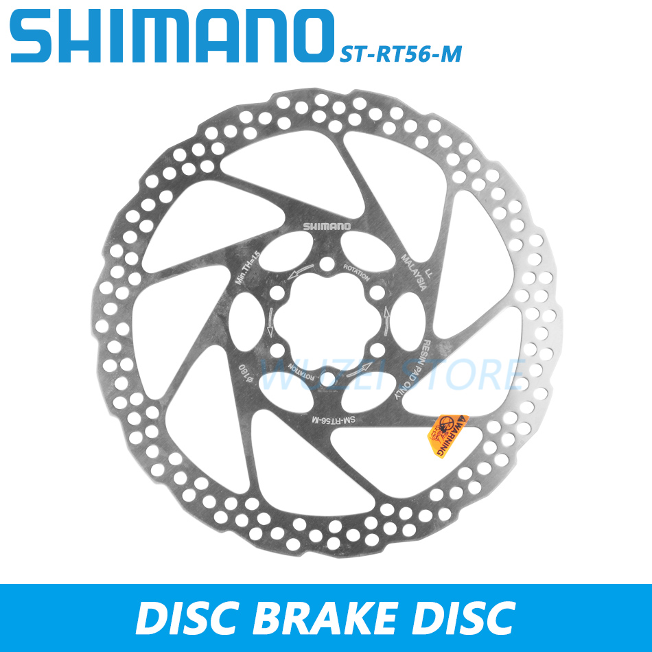 Shimano SM-RT56-S Disc Brake Rotors 180mm Mountain Bike 6 Bolts Style