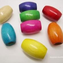 10 шт разноцветная деревянная плетеная коса для волос, бусины дредлок, около 9,5 мм, большое отверстие для аксессуаров для волос