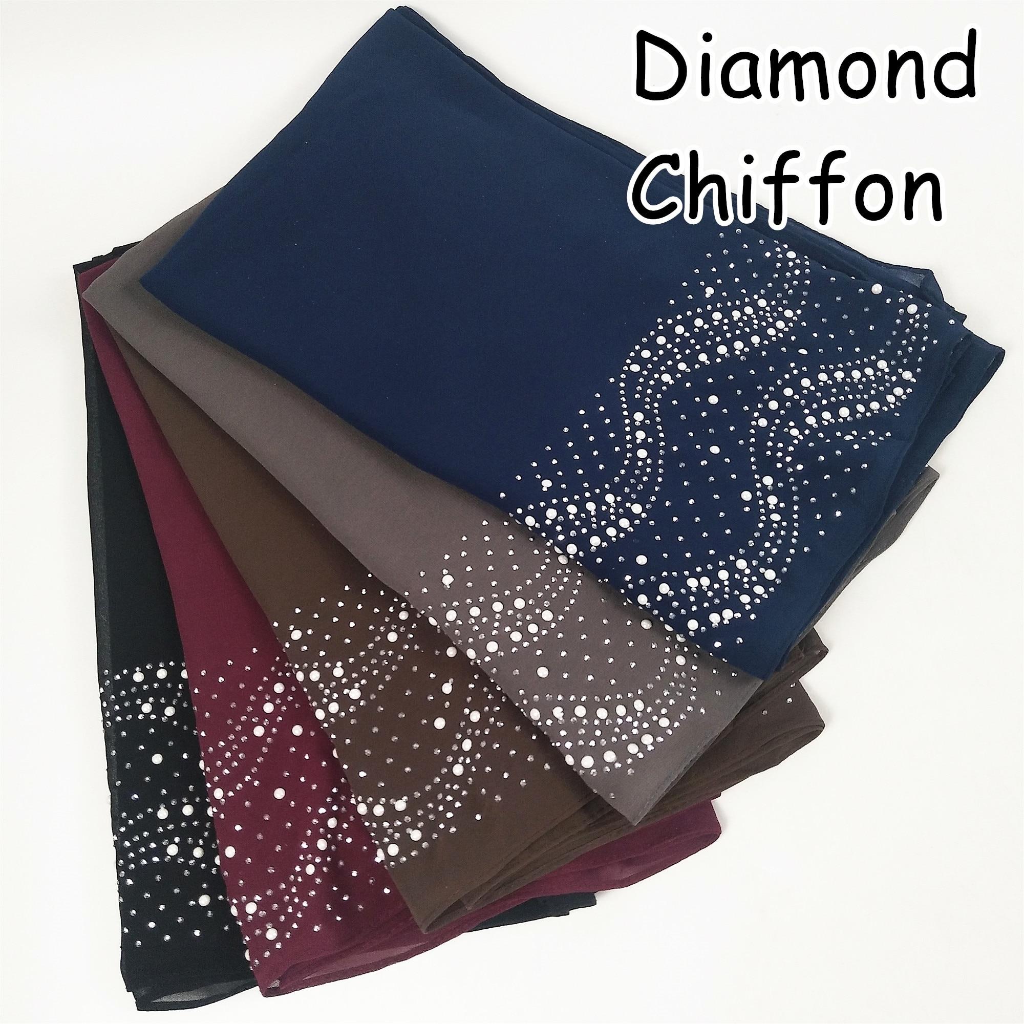 M91 High Quality Diamond Bubble Chiffon Hijab Wrap Shawls Lady Scarf Scarves  Headband 180*75cm 10pcs 1lot