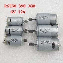 6 v 12 v kinder elektrische auto spielzeug auto und motorrad gewidmet Motoren kinderwagen zubehör RS280 RS380 390 550 getriebe motor
