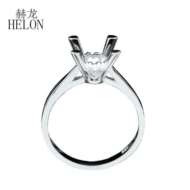 خاتم هيلون من الفضة الإسترليني عيار 925 بقصّة دائرية 8 مللي متر خاتم خطوبة زفاف أنيق نصف مثبت مجوهرات عصرية أنيقة للنساء شحن مجاني