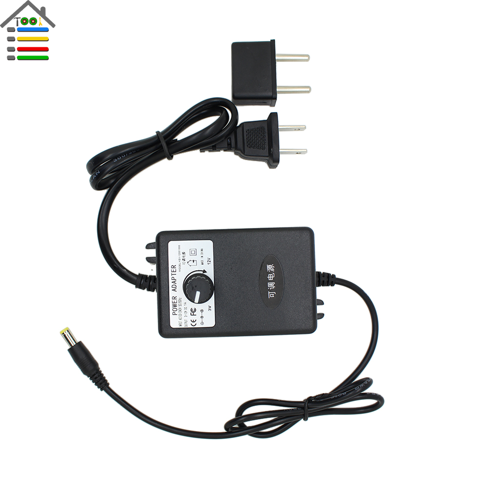 Ac110 220v to dc adapter 3 12v 1a adjustable power supply for 240v motor speed controller