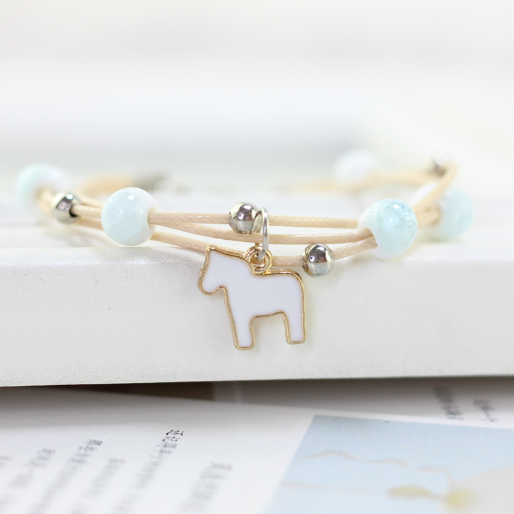 Cute animal Bracelets & Bangles Bohemia Ceramic Charm Bracelets Wholesale drop shipping Bracelets Bangles Beads #5104