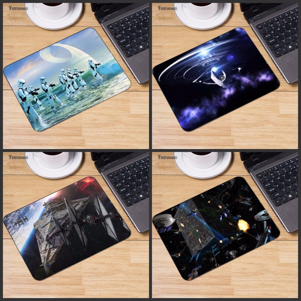 Yuzuoan Hot Star Wars Laptop Computer Star Trek Mousepad Size for 18*22cm And 25X29cm Gaming Mousepads No Overlock Edge Size
