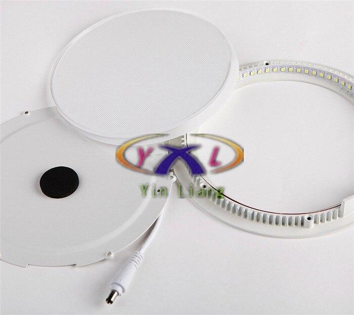 Горячая ультра тонкий Дизайн 3 Вт 4 Вт 6 Вт 9 Вт 12 Вт 15 Вт 18 Вт LED поверхности потолочные встраиваемые сетки светильник/круглый Панель свет Алюм...