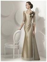 Русалка квадратный вырез до пола Длина атласным бантом мать невесты платья с перьями