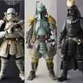 Figuras de Ação Star Wars Boba Fett Darth Vader Stormtrooper Sic Taisho 17 cm Realização Samurai Anime Figuras Star Wars Brinquedos