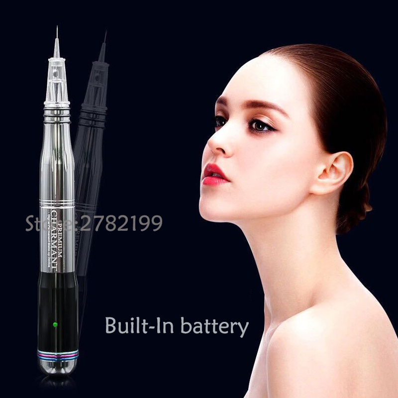 New Electric Digital Permanent Makeup Tattoo Machines Pen For Eyebrows Lips Body Tattoo Cosmetic Kits Make Up Cartridge Needles beautome 2016 permanent makeup pen tattoo eyebrow lips cosmetic machine kits needles tips ink permanent tattooing for adult red