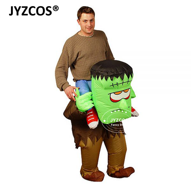 JYZCOS Adult Inflatable Frankenstein Monster Carrying You on Back Fancy Dress Horrible Outfits Halloween Party Purim Stag Suits