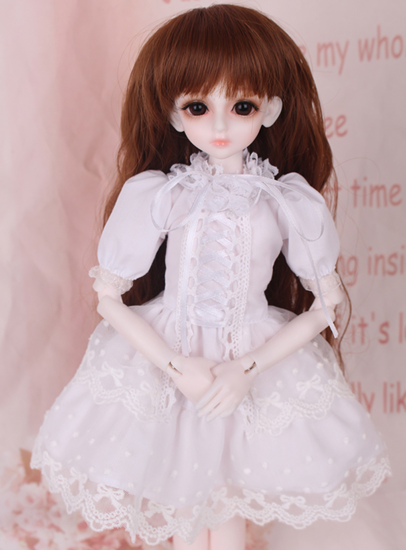 1/3 1/4 1/6 BJD Dolls Clothes Beautiful White Dress For Dolls Fashion Style Toy Clothing Doll Accessories wowhot 1 4 bjd sd doll wigs for dolls high temperature wires short straight bangs fashion wig 1 6 1 3 for dolls accessories toy