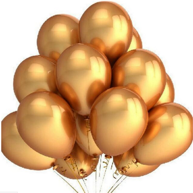 100pcs set gold latex balloons 10 inch inflatable latex. Black Bedroom Furniture Sets. Home Design Ideas