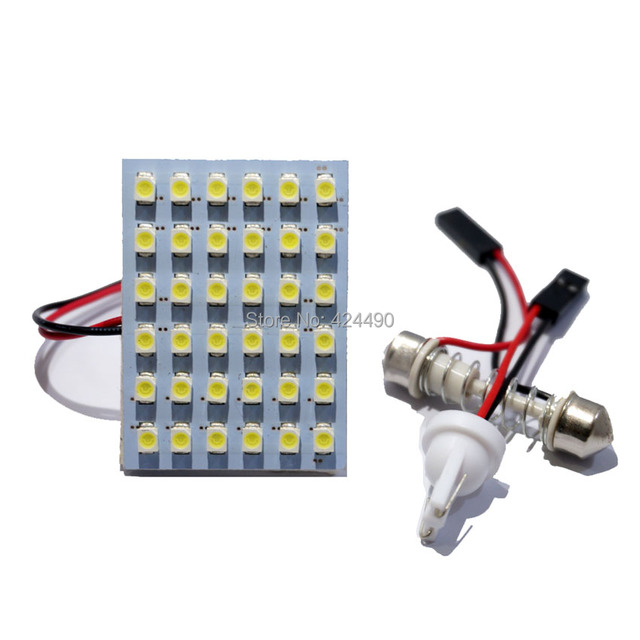 20x panel led lamp 48 smd interior room dome door car light bulb with t10