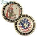 AtSKnSK 5pcs/lot US Challenge Coins Sain Florian Firefighter Souvenir Coins Antique Bronzed Plated Crafts as Souvenir Gift