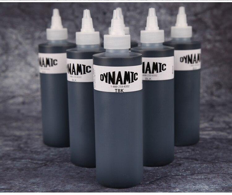 3 bottles of black dynamic tattoo ink 250 ml permanent makeup body art painting tattoo tool set body of art