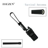 sma נקבה dual band CS טקטי אנטנה UHF VHF Band Dual SMA-נקבה 144 / 430Mhz רווח מתקפלת שליט אנטנה עבור מכשיר הקשר Baofeng UV-5R UV-82 (1)