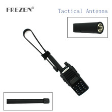 CS Tactical Antenna SMA-Female Dual Band VHF UHF 144/430Mhz Gain Foldable Ruler For Walkie Talkie Baofeng UV-5R UV-82