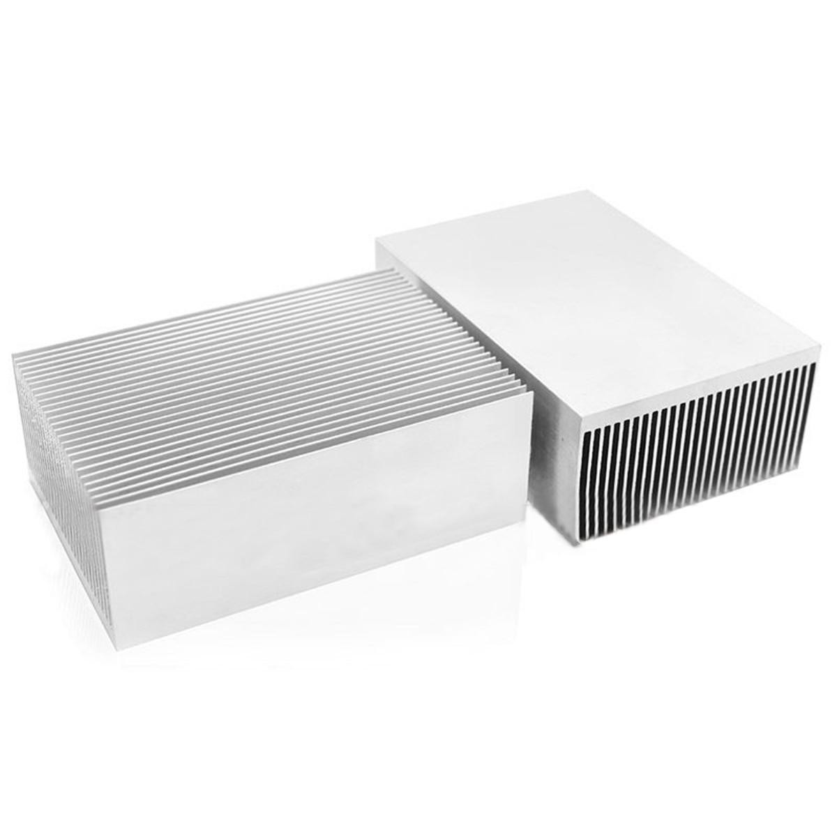 DWZ 1pc Large Big Aluminum Heatsink Heat Sink Radiator for Led High Power Amplifier diy 604 711 radiator heat sink cpu heatsink audio amplifier pure copper thickened base