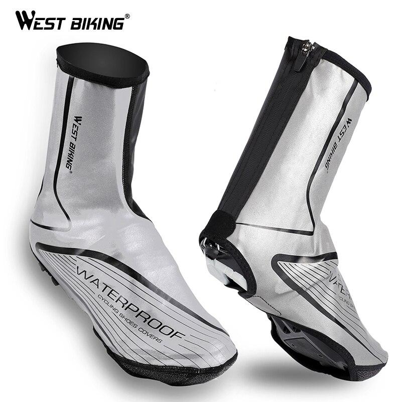 WEST BIKING полный светоотражающий тепловой Велосипедный Чехол для обуви водостойкий ветрозащитный молния горный велосипед чехол для обуви ...