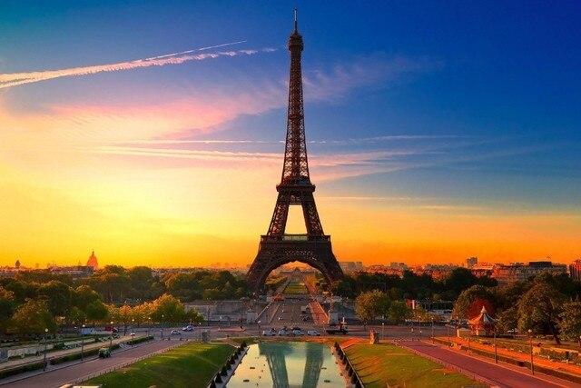 diy frame france famous buildings paris city eiffel tower landscape