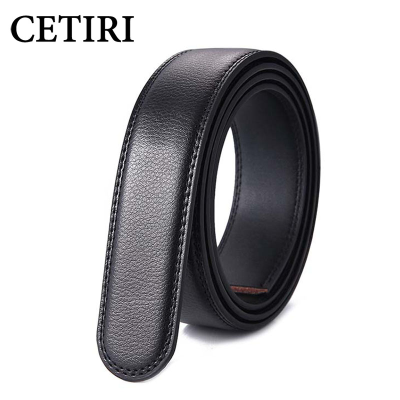 3.5cm Width 110-160CM Plus Size Long No Buckle Designer Mens Automatic Belts Body Cowskin Genuine Leather High Quality Belt Body