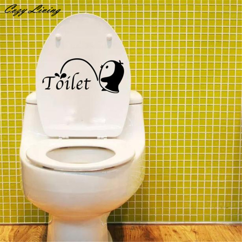 Penguin Toilet Sticker 2