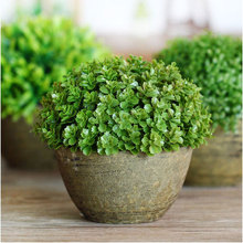 Artificial Potted Green Plastic Plants