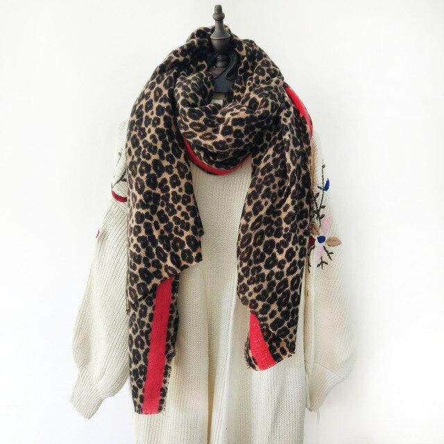 295e02cc617b2 [Lakysilk] Marque De Luxe Imprimé Léopard En Cachemire Écharpe Femmes  Foulards Dames Hommes Cou
