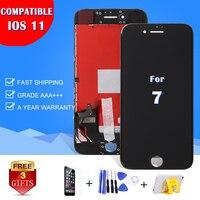 AAA + Brand New Wyświetlacz Dla iPhone 7G 8 8 + plus Moduł Wyświetlacza LCD Panel Dotykowy Digitizer Telefon komórkowy 3D Montażu wymiana