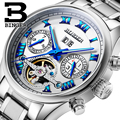 Switzerland BINGER watches men luxury brand Tourbillon sapphire luminous multiple functions Mechanical Wristwatches B8602-2