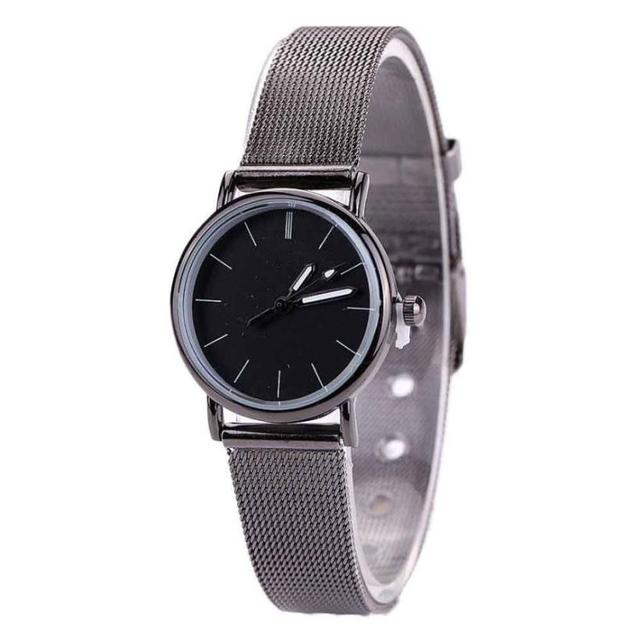 Gifts for Lovers Metal Mesh Watches 2018 High Quality Ultra thin Quartz Watch Wo