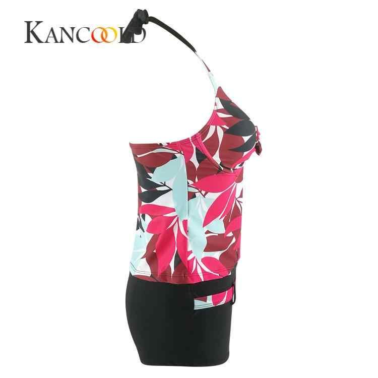 KANCOOLD боди сексуальный цветочный принт модный латексный боди Летний обтягивающий повседневный комплект купальник пуш-ап мягкие перчатки PFEB2
