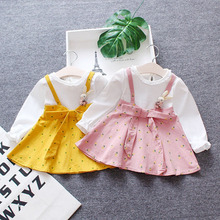 6ef2f80c0edc5 toddler girls dress infant kids children clothing newborn long sleeve dress  o neck baby one year