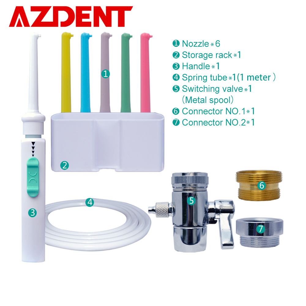 AZDENT Faucet Irrigation Tooth-Cleaner Dental-Flosser Nozzles Switch-Water Implement
