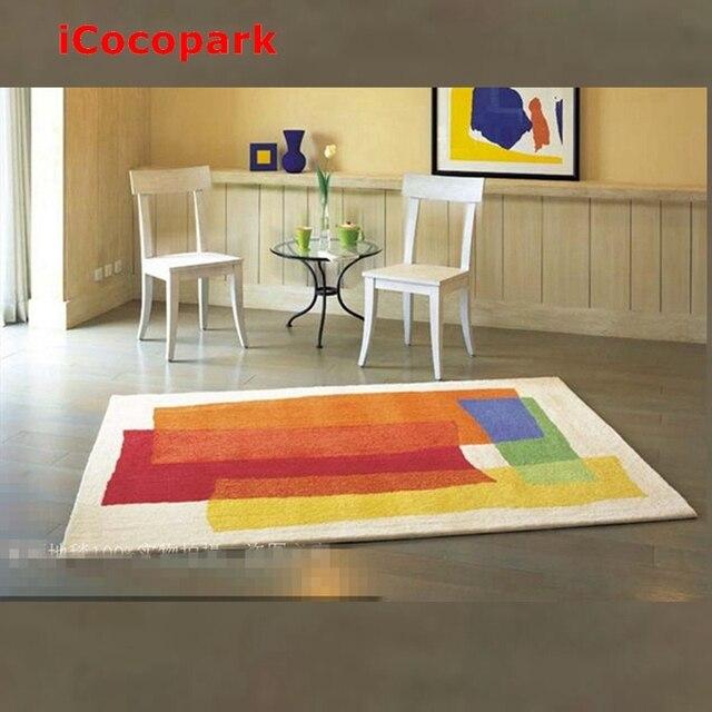 beautiful rainbow rug imitation wool carpet rainbow colorful carpet Beautiful Carpets for Living Room