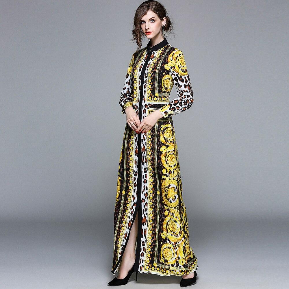 Femme printemps maxi robe de soirée imprimé léopard femme longue robe boho style dame robe de soirée