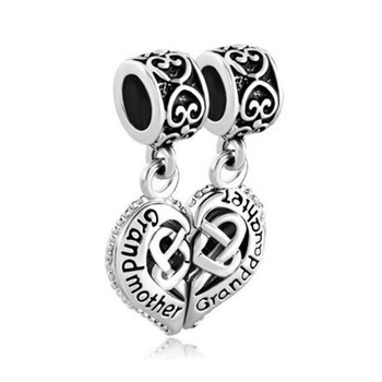 Free shipping Grandmother Heart Celtic Knot Charm Bead fit Pandora bracelet image